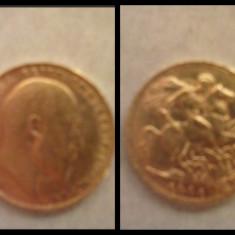 Moneda de aur din 1904 Englezeasca Meli Melo