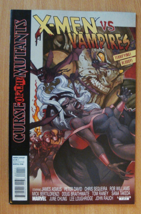 X-Men and Vampires - Curse Of The Mutants #1 . Marvel Comics foto mare