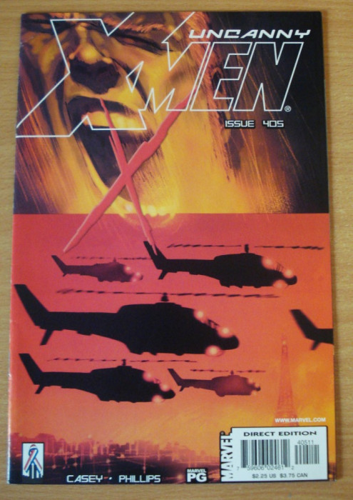 X-Men Uncanny #405 . Marvel Comics foto mare