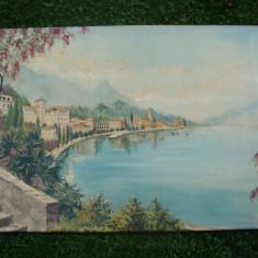 Peisaj, ulei pe panza, semnat E.S.Linder (7) - Pictor strain, Peisaje, Realism