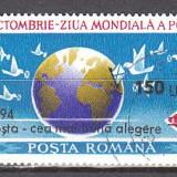 Romania.1994.Ziua mondiala a postei suprtipar RO94.1357 - Timbre Romania, Stampilat