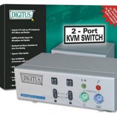 Switch KVM, 2 porturi, rezolutie 1920 x 1440 pixel, DIGITUS DC IC812IA-MC - 004195