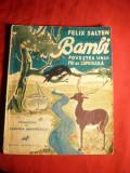 Felix Salten -Bambi-povestea unui pui de caprioara - Ed. interbelica , ilustratii, Alta editura