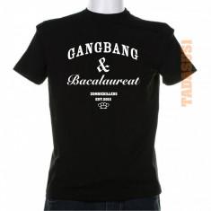 Tricou cocaine caviar gangbang & bacalaureat - Tricou barbati, Marime: S, M, L, XL, Culoare: Alb, Rosu, Maneca scurta, Bumbac