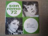Corina chiriac margareta paslaru san remo 1972 vinyl single pop, VINIL, electrecord