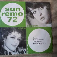 Corina chiriac margareta paslaru san remo 1972 vinyl single pop - Muzica Pop electrecord, VINIL