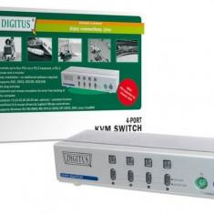 Switch KVM, 4 porturi, rezolutie 1920 x 1440 pixel, DIGITUS DC IC814I-MC - 004196