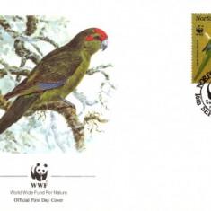 WWF FDC set /4 buc. FDC/ Norfolk Isl 1987 - papagei