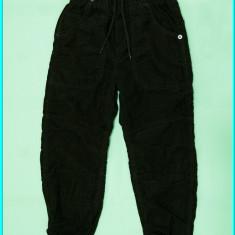 NOI, DE FIRMA _ Pantaloni catifea, grosi, captusiti, H&M _ baieti | 5 - 6 ani, Marime: Alta, Culoare: Maro
