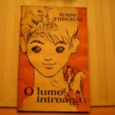 RADU TUDORAN - O LUME INTREAGA - ROMAN DE AVENTURI PENTRU COPII - ED. TINERETULUI 1964 - 365 PAG .