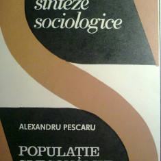 Alexandru Pescaru - Populatie si economie
