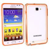 Bumper portocaliu orange Samsung Galaxy Note i9220 GT-N7000 + folie protectie ecran + expediere gratuita