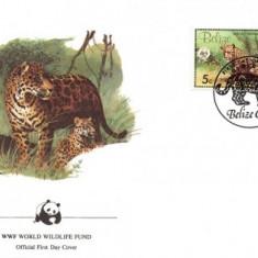 WWF FDC complet set Belize 1983 / 4 buc. FDC / - Jaguar