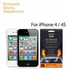 folie protectie ecran ultrarezistenta BUFF Iphone 4 4G + cablu date + expediere gratuita