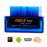 Super MINI OBD2 OBDII ELM 327  Bluetooth INTERFATA TESTER DIAGNOZA OBD2 CAN-BUS Scaner ULTIMA VERSIUNE Smartphone Android iPhone