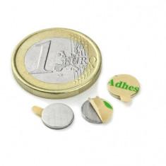 Magnet neodim disc cu autoadeziv, 8 mm, putere 200 g