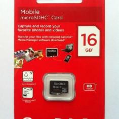 Card de memorie Micro SDHC, 16GB, SanDisk - 004257 - Card memorie