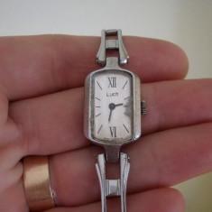 Ceas mecanic dama - LUCH (Made in Belarus) / Ceas original dama / Ceas dama rusesc, Elegant, Mecanic-Manual, Inox