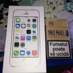 Vand iPhone 5S Apple GOLD neverlocked sigilat VARIANTA EUROPA predare acum in BUCURESTI, Auriu, 16GB, Neblocat