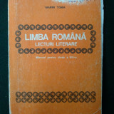 Limba Romana, Lecturi literare, manual pentru clasa a VII - a 1985 - Manual scolar, Clasa 8