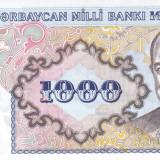 Bancnota Azerbaidjan 1.000 Manat (1993) - P20a ( serie fractionara - $20 ) UNC - bancnota asia