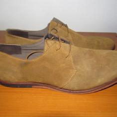 Pantofi piele intoarsa JACK&JONES-PREMIUM - Pantofi barbat Jack & Jones, Marime: 42, Piele naturala, Maro