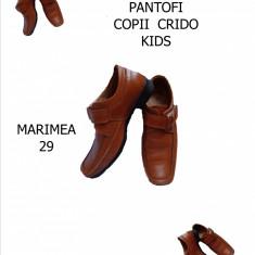 PANTOFI PIELE CRIDO KIDS, MARIMEA 29, LIVRARE GRATUITA IN TOATA TARA - Pantofi copii, Culoare: Coniac, Baieti