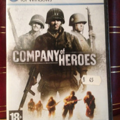 COMPANY OF HEROES - Joc PC Thq/DVD (2006) NOU/SIGILAT, Strategie, 18+