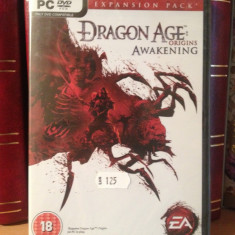 DRAGON AGE ORIGINS : AWAKENING -JOC PC/DVD (2010) NOU/SIGILAT - Jocuri PC Electronic Arts, Role playing, 18+, Single player