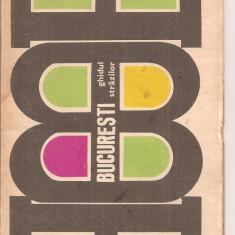 (C4309) BUCURESTI, GHIDUL STRAZILOR, EDITURA STADION, 1970 - Ghid de calatorie