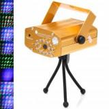 ULTIMUL LASER APARUT CU TELECOMANDA, LASER PROIECTOR 3 D ROSU+VERDE SI LEDURI ALBASTRE, SUPER LASER DISCO+TELECOMANDA . - Laser lumini club