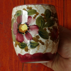 Halba de bere din ceramica - ornamente florale !!!, Altul