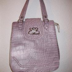 Poseta / geanta piele Italia minunata mov deschis - Geanta Dama, Geanta stil postas, Mare