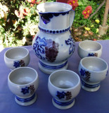 Set / Serviciu - Vin fiert ( carafa + pahare ) - ceramica Germania - 6 persoane