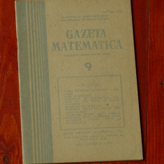 Gazeta Matematica - anul LXXXIX nr 9 - 1984 - Revista scolara