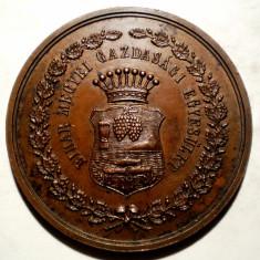 5.181 MEDALIE ROMANIA UNGARIA BIHOR SOCIETATEA AGRICOLA 1901 44mm - Medalii Romania