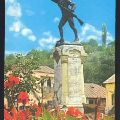CARTE POSTALA*SLATINA*Statuia Ecaterina Teodoroiu - Carte Postala Muntenia dupa 1918, Circulata, Printata