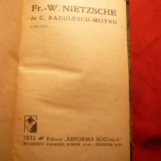 C.Radulescu Motru - Fr.W.Nietzsche - Ed.1921