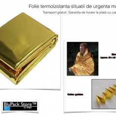 Folie termoizolanta gold 140x210 situatii de urgenta accidente dezastre, Accesorii intretinere