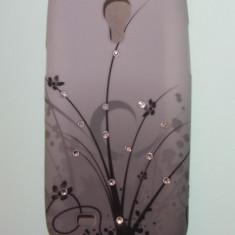 Husa silicon samsung galaxy s4 mini i9190 + folie protectie ecran - Husa Telefon Samsung, Alb