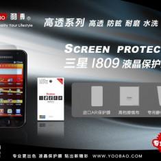 Folie profesionala transparenta fata Samsung i809 Yoobao Made in Japan Originala - Folie de protectie