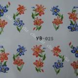 Tatuaj transfer pe baza de apa sticker pentru decorare unghii YB 025 - Decoratiuni unghii