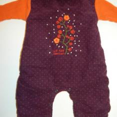 Salopeta compleu romper de iarna pentru bebelusi, marimea 0-3 luni, marca Kid Cool, Culoare: Visiniu