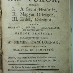 HARTA VECHE TRANSILVANIA SI UNGARIA  1792 CUPRINSE INTR-UN RAR MANUAL DE EPOCA