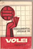 (C4319) REGULAMENTUL JOCULUI DE VOLEI COMENTAT, FEDERATIA ROMANA DE VOLEI, EDITURA STADION, 1972