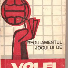(C4319) REGULAMENTUL JOCULUI DE VOLEI COMENTAT, FEDERATIA ROMANA DE VOLEI, EDITURA STADION, 1972, Alta editura