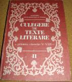 CULEGERE DE TEXTE LITERARE ( pentru clasele V-VIII ), Alta editura