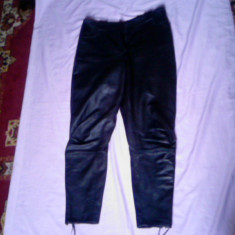 PANTALONI PIELE ROKER SAU MOTO LICHIDARE STOC - Pantaloni dama, Lungi, Marime: 42