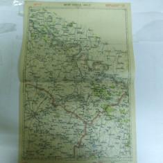 Harta Soroca - Balti color 47 x 31 cm perioada interbelica - Harta Romaniei
