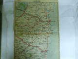 Harta Constanta color 47 x 31 cm perioada interbelica